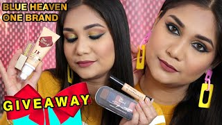 Blue Heaven One Brand + Giveaway | New Launches Blue Heaven Try On | Nidhi Katiyar