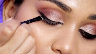 How To : Makeup - How To apply Winged Eyeliner For Beginners | Ep :03 | Nidhi Katiyar