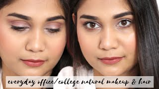 EveryDay Office/College Soft Makeup & Hair Transformation | Nidhi Katiyar
