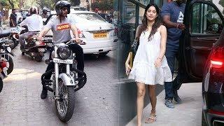 Kartik Aaryan And Janvi Kapoor Spotted At Maddock Office Bandra