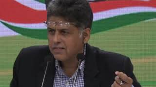 AICC Press Briefing By Manish Tewari at Congress HQ on appointment of CVC and VC