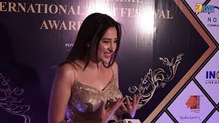 Mahira Sharma First Red Carpet Walk At Dadasaheb Phalke International Film Awards 2020