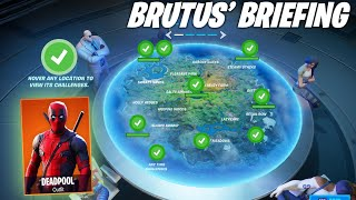 BRUTUS' BRIEFING CHALLENGE FORTNITE CHAPTER 2 - SEASON 2 (ALL CHALLENGES)
