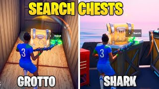 Search Chests at The Grotto or The Shark - BRUTUS' BRIEFING CHALLENGE FORTNITE CHAPTER 2 - SEASON 2