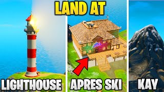 Land at Lockie's Lighthouse, Apres Ski, and Mount Kay - BRUTUS' BRIEFING CHALLENGE FORTNITE