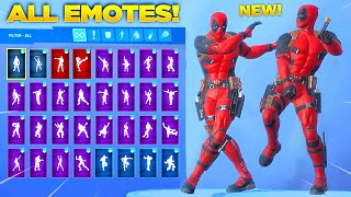 *NEW* DEADPOOL SKIN Showcase with All Fortnite New Dances & Emotes! (Chapter 2 - Season 2)