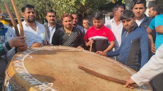 Big Drum Set encouraged the Demonstrators | Kisan Astitva Andolan | Sec 6, Noida