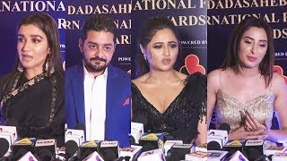Bigg Boss 13 Fame Rashmi Desai, Shefali Bagga And Mahira Sharma At Dada Saheb Phalke awards 2020
