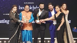 Bigg Boss 13 Fame Rashmi, Bhau, Mahira, Shefali Receiving AWARD At Dada Saheb Phalke Awards 2020
