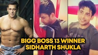 WINNER Sidharth Shukla Follows Salman's Advice; Hits The Gym To Get Back In Shape | Bigg Boss 13