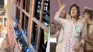 पाकिस्तान जिंदाबाद नारे लगाने वाली लड़की के घर पर  जानलेवा हमला  THE NEWS INDIA