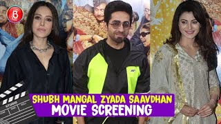 Ayushmann Khurrana, Nushrat Bharucha, Urvashi Rautela Rock The Shubh Mangal Zyada Saavdhan Screening