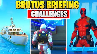 BRUTUS BRIEFING CHALLENGES FORTNITE CHAPTER 2 - SEASON 2 (ALL CHALLENGES)