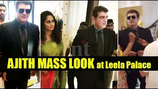 Ajith recent mass look with Shalini | Ajith attend family marriage function Leela Palace