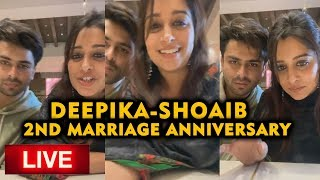 Dipika Kakkar And Shoaib LIVE CHAT With Fans | 2nd Marriage Anniversary Celebration