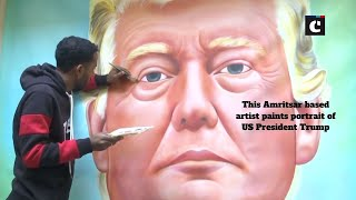 This Amritsar based artist paints portrait of US President Trump