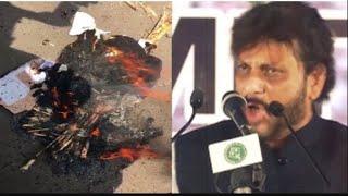 #Warispathan का पुतला जलाया गया वारिस पठान को पाकिस्तान भेजना होगा