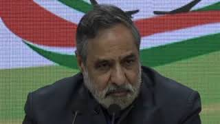 Anand Sharma addresses media at Congress HQ on US President's visit