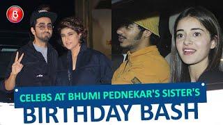 Ayushmann Khurrana & Ananya Panday Grace Bhumi Pednekar's Sister, Samiksha's Birthday bash