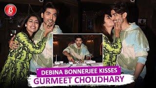 Debina Bonnerjee showers Kisses on hubby Gurmeet Choudhary On his 33rd Birthday