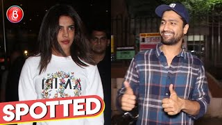 Priyanka Chopra and Vicky Kaushal Snapped In B-Town