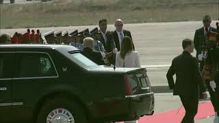PM Modi and President Trump's roadshow from Motera Stadium to Ahmedabad Airport in Gujarat | PMO