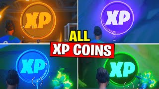 All XP COINS LOCATIONS - Blue XP Coins,Gold XP Coins,Purple XP Coins - Fortnite Chapter 2 - Season 2