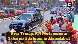 Prez Trump, PM Modi enroute Sabarmati Ashram in Ahmedabad