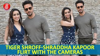 Tiger Shroff & Shraddha Kapoor Flirt With The Cameras During Baaghi 3 Promotions