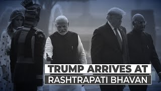 Trump in India Day 2: US President receives ceremonial welcome at Rashtrapati Bhavan