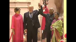 Donald Trump, Melania Trump arrive at Rashtrapati Bhavan for state banquet