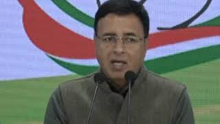 Randeep Singh Surjewala addresses media on Northeast Delhi Violence