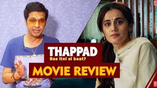 THAPPAD Movie Review (2020 Film) | Taapsee Pannu | By RJ Divya Solgama