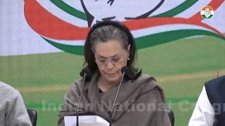 LIVE: Congress President Smt. Sonia Gandhi addresses media at AICC HQ on Delhi Violence