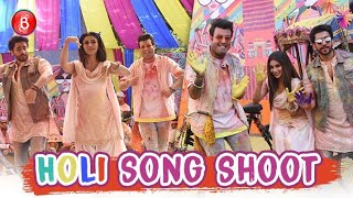 Mouni Roy, Varun Sharma & Sunny Singh Have A Fun Time At A Holi Song Shoot