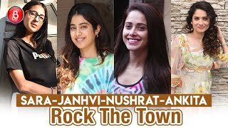 Sara Ali Khan, Janhvi Kapoor, Nushrat Bharucha, Ankita Lokhande Rock The Town With Their Fab Avatars