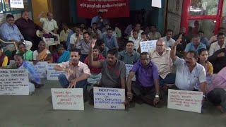 Kadamba Employees Go On Indefinite Chain Dharna