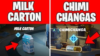 Find Deadpool's Milk carton & Find Deadpool's Chimichangas around HQ - DEADPOOL CHALLENGES Fortnite
