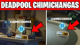 Find Deadpool's Chimichangas around HQ - WEEK 2 DEADPOOL CHALLENGES Fortnite