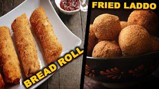 Bread Roll   Fried Laddo   Tiffin Box Ideas