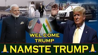 Grand Welcome to Donald Trump To India | Latest News India | Live Breaking News | Top Telugu TV
