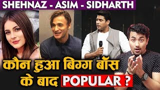 Asim Vs Sidharth Vs Shehnaz | Social Media Popularity After Bigg Boss 13