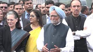 Delhi Violence: Former PM Dr. Manmohan Singh addresses media after the meeting with President
