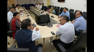 High-level meeting to review the arrangements to screen passengers for the corona-virus