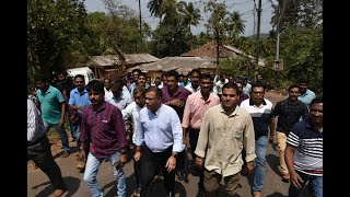 Rane along with thousands of supporters was present to file nominations for three candidates