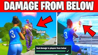 Deal damage to players from below - Week 2 Brutus Briefing Challenge Fortnite