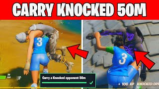 Carry a Knocked opponent 50m - Week 2 Brutus Briefing Challenge Fortnite