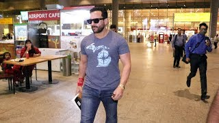 Most Stylish Saif ALi Khan Spotted Returning At Mumbai Airport