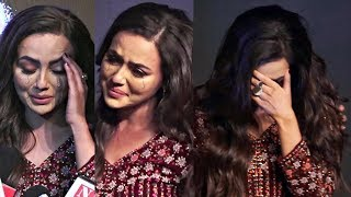 Sana Khan Breaks Down At Special Ops Trailer Launch Post Breakup With Melvin Louis