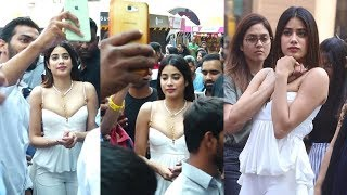 Gorgeous Janhvi Kapoor Mobbed By Fans At High Street Phoenix
